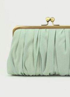 Bridesmaid Clutch Purse / Mint Clutch