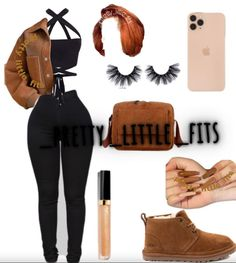 Boujee Outfits, Baddie Outfits Casual, Cute Swag Outfits, Dope Outfits, Winter Outfits, Fashion Outfits, Womens Fashion, Back To School Outfits, College Outfits