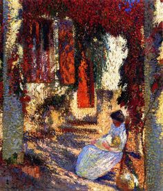 The Athenaeum - Mother and Child in the Garden (Henri Martin - )