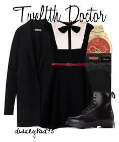 """""""Twelfth Doctor"""" by disneykid95 ❤ liked on Polyvore featuring Michael Kors, Topshop, Reed Krakoff, Ted Baker and Dr. Martens"""