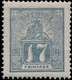 Sweden 1862-1866. Lion. 17 öre