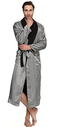 756b2b08a0 Sunrise Men s Polyester Satin Polar Fleece Lining Bathrobe Robe Review