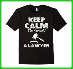 Mens Keep Calm I'm Almost a Lawyer Funny Love Shirts Medium Black - Careers professions shirts (*Amazon Partner-Link)