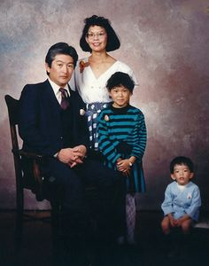 Awkward family photo - Isolated son