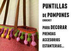 punto puntills pompones croche