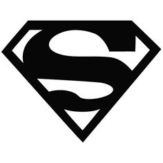 Superman Logo - Movie Decal [15cm Black] Vinyl Removable Decorative Sticker for Wall Car Ipad Mac @ niftywarehouse.com