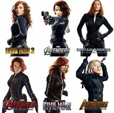 Natasha Romanoff's hair evolution from every movie she's been in. I've never noticed but she always has a bob in Avengers films and longer hair in the solos. Marvel Dc Comics, Hq Marvel, Marvel Heroes, Marvel Cinematic, Natasha Romanoff, Black Widow Scarlett, Black Widow Natasha, Marvel Characters, Marvel Movies