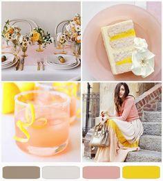 {pretty palette} grapefuit + lemon zest
