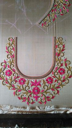 embroidery blouse designs & embroidery & embroidery patterns & embroidery designs & embroidery inspiration & embroidery for beginners & embroidery stitches & embroidery blouse designs & embroidery hoop art Hand Work Blouse Design, Kids Blouse Designs, Simple Blouse Designs, Stylish Blouse Design, Blouse Designs Silk, Designer Blouse Patterns, Hand Designs, Embroidery Neck Designs, Embroidery Blouses
