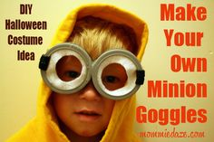 Halloween Costume Idea: DIY Despicable Me Minion Goggles - Mommiedaze
