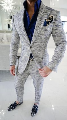 Simply add 5 items to your cart. Handsome Men In Suits, Best Suits For Men, Cool Suits, Smart Casual Men, Stylish Men, Blue Slim Fit Suit, Designer Suits For Men, Tuxedos, Sharp Dressed Man