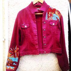 T-Shirt Painting | Tria-Aegina T Shirt Painting, Leather Jacket, Jackets, Crafts, Shirts, Clothes, Fashion, Studded Leather Jacket, Down Jackets