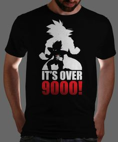 Over 9000! today only at Qwertee : Limited Edition Cheap Daily T Shirts   Gone in 24 Hours   T-shirt Only £8/€10/$12   Cool Graphic Funny Tee Shirts