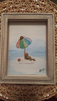 Sea Glass And Pebble Art Beach Umbella Sun Man Relaxing images ideas from All About Beach Sea Crafts, Sea Glass Crafts, Sea Glass Art, Stained Glass Art, Fused Glass, Broken Glass Art, Shattered Glass, Glass Art Pictures, Art Design