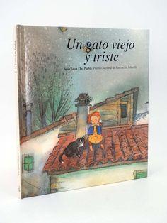 """Jesús Zatón, Teo Puebla. """"Un Gato viejo y triste"""". Editorial Júcar. (3 a 6 años). Está en la biblio. Childrens Books, Editorial, Baseball Cards, Cover, Painting, Children's Literature, Death, Books, Animales"""
