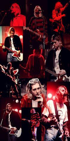 Kurt Cobain Photos, Nirvana Kurt Cobain, Nirvana Lyrics, Nirvana Art, Emo Wallpaper, Iphone Wallpaper, Rock Band Posters, Donald Cobain, Music Collage
