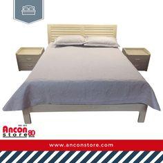 #Recámaras | Un buen descanso es posible. Visita nuestros locales y elige la recámara para lograrlo. Esta cama queen con dos mesitas y base de MDF color natural puede ser tuya por sólo B/. 589,99.  | La felicidad empieza por casa, sé feliz | Visítanos 👉  www.anconstore.com