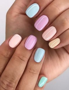faux ongles en gel The Effective Pictures We Offer You About gel nails A quality picture can tell you many … Oval Acrylic Nails, Summer Acrylic Nails, Metallic Nails, Spring Nails, Nails Summer Colors, Pastel Color Nails, One Color Nails, White Summer Nails, Pastel Art
