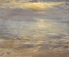 William McTaggart, Quiet Sunset, Machrihanish, 1877, Oil