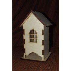 Holzdeko-Dekoration-aus-Holz-Decoupage-Technik-Holzfigur-Holzhaus-fuer-Tee Bird, Outdoor Decor, House, Home Decor, Wooden Figurines, Log Home, Decoration Home, Home, Room Decor