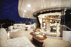 Luxurious outdoor space on a yacht