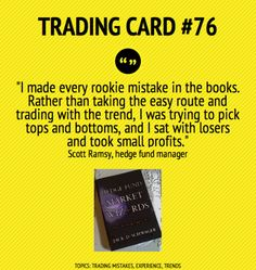 Trading Card #76: I Made Every Rookie Mistake In The Books by Scott Ramsey
