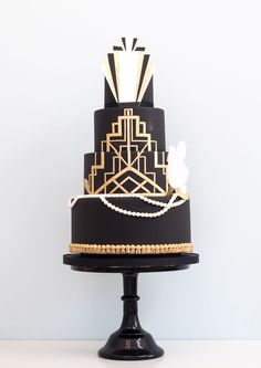 Gatsby Jaw-dropping wedding cake designs by Rosalind Miller Cakes http://amzn.to/2s1s5wc