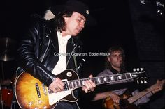 Stevie Ray Vaughan: PLAYING GIBSON LES PAUL; RARE EXCLUSIVE.Live: NAMM SHOW 1987;.Photo Credit: Eddie Malluk/Atlas Icons.com