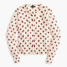 J.Crew - Jackie cardigan sweater in sequin polka dot