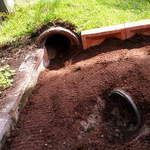 Creating a natural environment for bunnies inside their runs is a great idea
