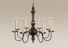 Colonial Lighting - Arbors Chandelier - Antique Style - Primitive Chandelier #Primitive