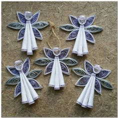 Vibrant Spring Colored Quilled Paper Angel by PaperOrchidBoutique