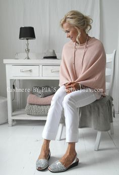 Cashmere poncho, PINK - CASHMERE - By Pia's Design