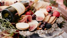 Fall Wedding Elopement with Charcuterie Board by Con Besos Flowers by BW Events Photography by Cory Media Group Silver Platter rented from Sweet Life Vintage Rentals