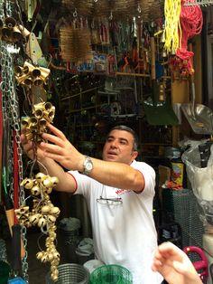 Ring them bells. Market, Istanbul.