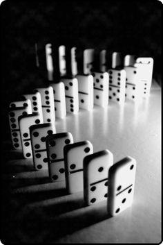 Black & white domino effect…