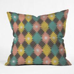Loni Harris Tribal Diamonds Throw Pillow