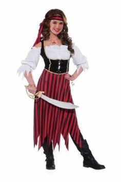 Forum Novelties Womens Teenz Pirate Maiden Costume Tag someone who should wear this! #Funny #Halloween #Costume
