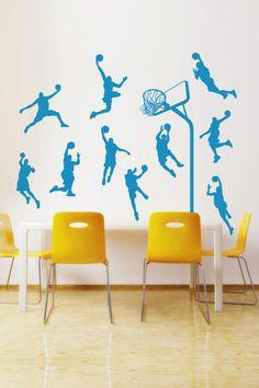 Wall Decals  Basketball Players Moves, technique, dunks, lay ups, tricks, hoop-WALLTAT.com Art Without Boundaries