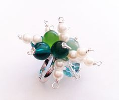 Anelli - anello regolabile verde - un prodotto unico di tizianat su DaWanda