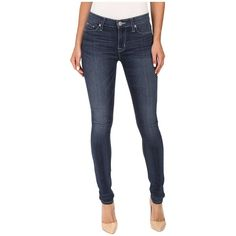 Hudson Nico Mid-Rise Skinny in Backlash (Backlash) Women's Jeans ($175) ❤ liked on Polyvore featuring jeans
