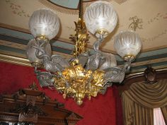 1861 Cornelius & Baker Egret gas chandelier