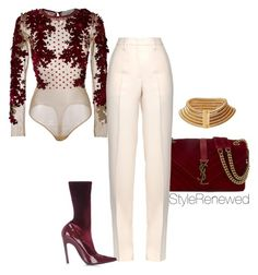 """Untitled #314"" by sherristylz on Polyvore featuring Yves Saint Laurent, Amen, Jil Sander, Balenciaga and Balmain"