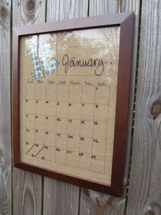 Dry Erase Calendar Wall Art. I have a slight obsession with organization and calendars... this fits my every love and need.