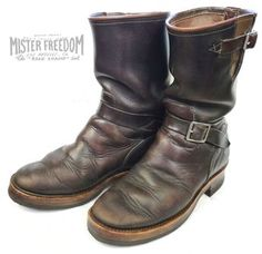 It comes as no surprise that the gentleman behind Road Champ Engineer Boots owns the best looking pair around. Mister Freedom himself, . Vintage Boots, Vintage Outfits, Fashion Boots, Mens Fashion, Engineer Boots, College Fashion, College Style, Man Up, Motorcycle Boots