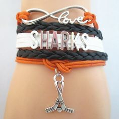 Infinity Love San Jose Sharks Hockey - Show off your teams colors! Cutest Love San Jose Sharks Bracelet on the Planet! Don't miss our Special Sales Event. Many teams available. www.DilyDalee.co