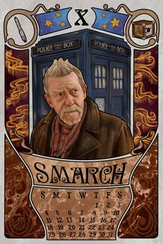 "I actually wasn't planning to make this, but after some people were asking for John Hurt...this month works for May 2014 OR January 2015. So here you have, ""Smarch"" month for the doctor who 20..."
