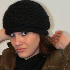 Womens Celebration Slouch Hat in Soft Black or by mckelveydalton, $35.00