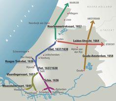 Trekvaarten in Zuid-Holland