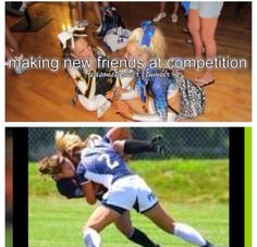 Soccer girl probs... Mine does both lol! She wants be a wrestler too. Why not ;)